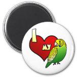 I Love my Budgerigar 6 Cm Round Magnet