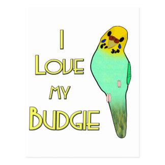 I Love My Budgie Postcard
