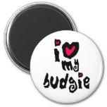 I Love My Budgie Refrigerator Magnet