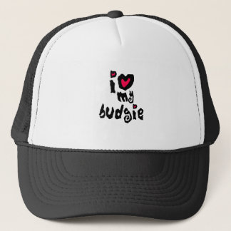I Love My Budgie Trucker Hat