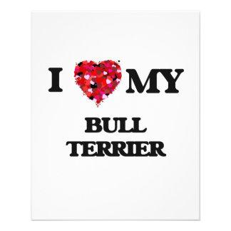I love my Bull Terrier 11.5 Cm X 14 Cm Flyer