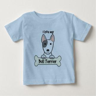 I Love My Bull Terrier Baby T-Shirt
