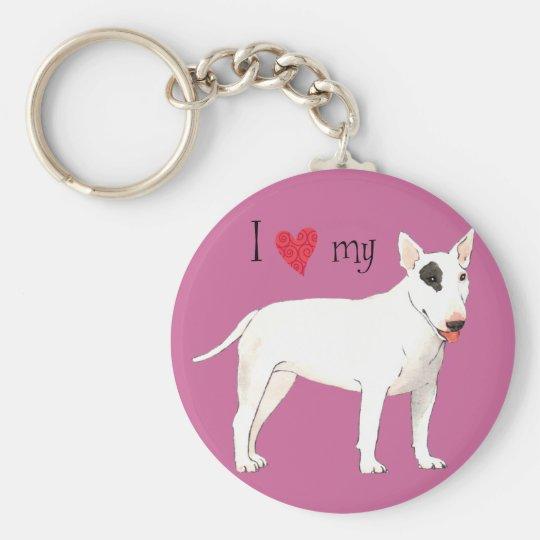 I Love my Bull Terrier Key Ring
