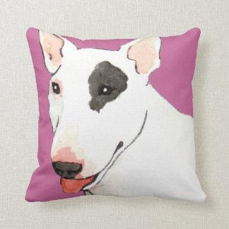 I Love my Bull Terrier Throw Cushion