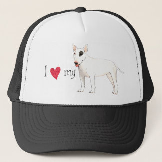 I Love my Bull Terrier Trucker Hat