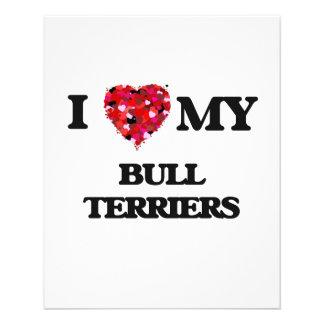 I love my Bull Terriers 11.5 Cm X 14 Cm Flyer