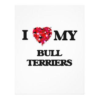 I love my Bull Terriers 21.5 Cm X 28 Cm Flyer