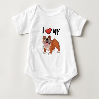 I love my Bulldog Baby Bodysuit