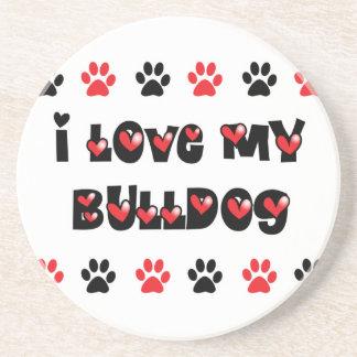 I Love My Bulldog Coaster