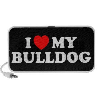I Love my Bulldog Doodle Laptop Speaker
