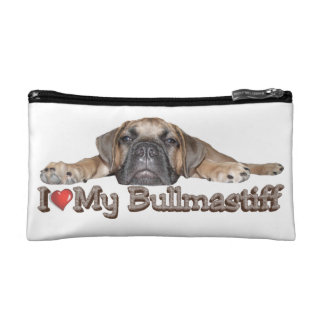 I Love My Bullmastiff Cosmetic Bag