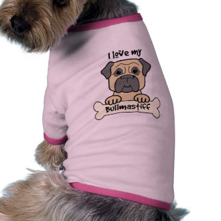 I Love My Bullmastiff Dog Tee Shirt
