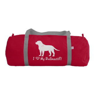 I Love My Bullmastiff! Gym Duffel Bag