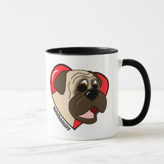 I Love my Bullmastiff Mug (Cartoon)