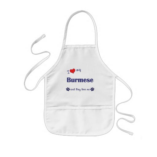 I Love My Burmese (Multiple Cats) Aprons