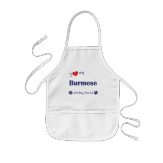 I Love My Burmese (Multiple Cats) Kids Apron