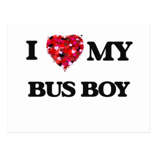I love my Bus Boy Postcard