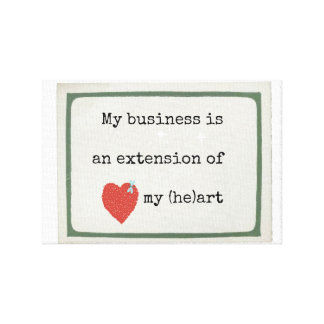 I love my business canvas print