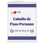 I Love My Caballo de Paso Peruano (Female Horse) Card