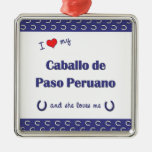 I Love My Caballo de Paso Peruano (Female Horse) Christmas Tree Ornament