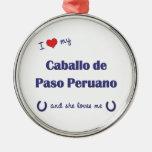I Love My Caballo de Paso Peruano (Female Horse) Christmas Tree Ornaments