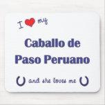 I Love My Caballo de Paso Peruano (Female Horse) Mouse Pad