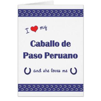 I Love My Caballo de Paso Peruano (Female Horse) Note Card