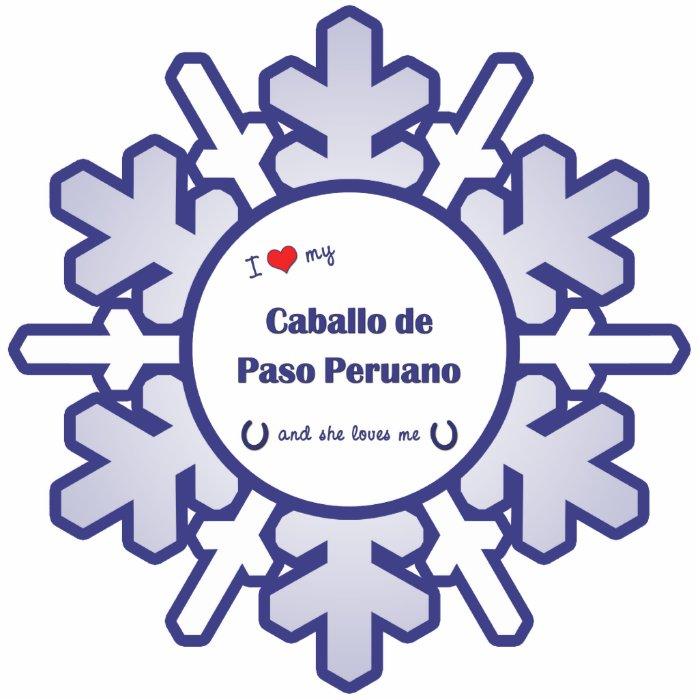 I Love My Caballo de Paso Peruano (Female Horse) Photo Sculpture Decoration