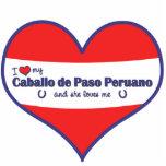 I Love My Caballo de Paso Peruano (Female Horse) Photo Cut Outs