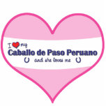 I Love My Caballo de Paso Peruano (Female Horse) Photo Cutouts