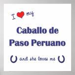 I Love My Caballo de Paso Peruano (Female Horse) Poster