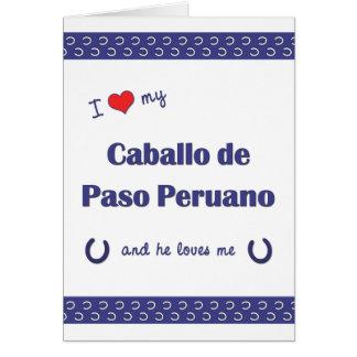I Love My Caballo de Paso Peruano (Male Horse) Note Card