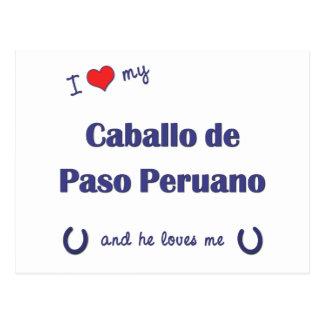 I Love My Caballo de Paso Peruano (Male Horse) Postcard