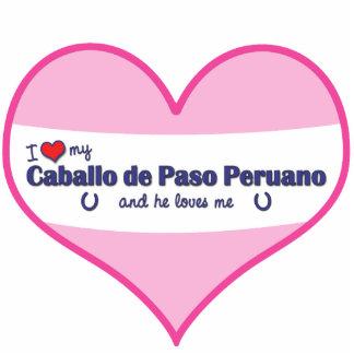 I Love My Caballo de Paso Peruano (Male Horse) Standing Photo Sculpture