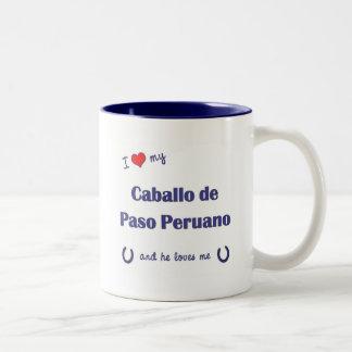 I Love My Caballo de Paso Peruano (Male Horse) Two-Tone Mug
