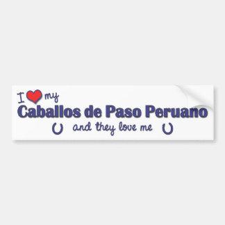 I Love My Caballos de Paso Peruano (Multi Horses) Bumper Sticker