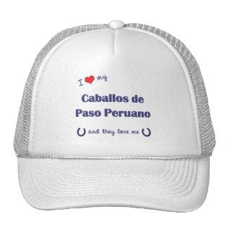 I Love My Caballos de Paso Peruano (Multi Horses) Mesh Hats