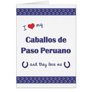 I Love My Caballos de Paso Peruano (Multi Horses) Note Card