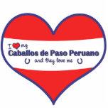 I Love My Caballos de Paso Peruano (Multi Horses) Photo Cutouts