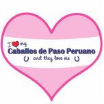 I Love My Caballos de Paso Peruano (Multi Horses) Acrylic Cut Outs