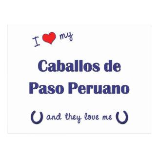 I Love My Caballos de Paso Peruano (Multi Horses) Postcard