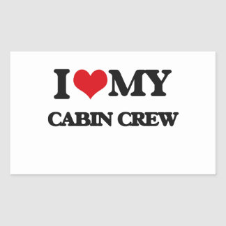 I love my Cabin Crew Rectangle Stickers