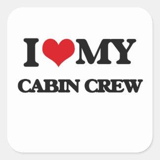I love my Cabin Crew Square Sticker