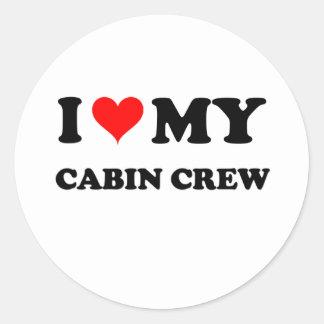 I Love My Cabin Crew Stickers