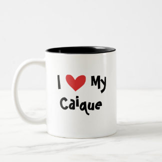 I Love My Caique / Lovebird / Pionus / Parrot Two-Tone Coffee Mug