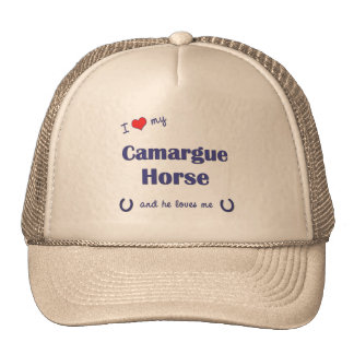 I Love My Camargue Horse Male Horse Trucker Hats