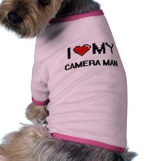 I love my Camera Man Ringer Dog Shirt