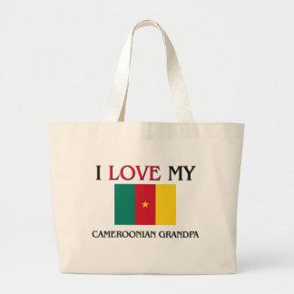 I Love My Cameroonian Grandpa Jumbo Tote Bag