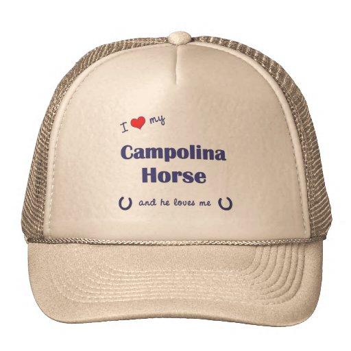 I Love My Campolina Horse (Male Horse) Hats