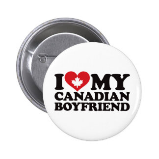 I Love My Canadian Boyfriend 6 Cm Round Badge